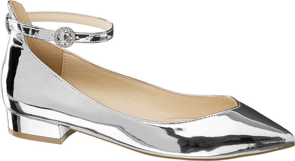 Baleriny damskie Blink srebrne