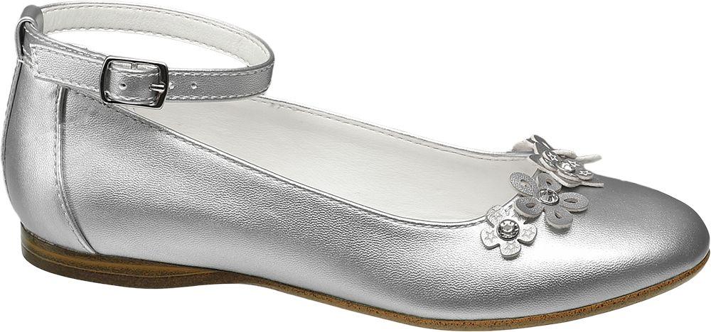 Baleriny dziecięce Graceland srebrne