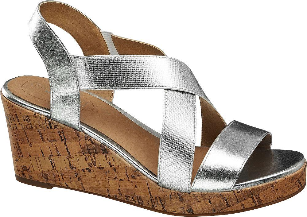Sandały damskie 5th Avenue srebrne