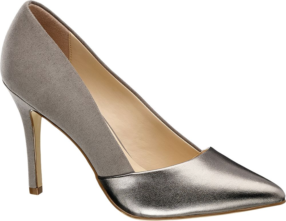 Szpilki damskie Graceland srebrne