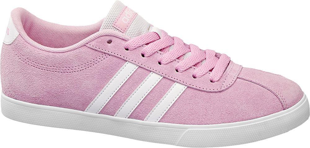 Deichmann - adidas Tenisky Courtset W 38 růžová