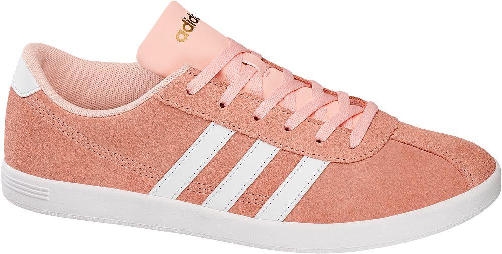 Deichmann - adidas neo label Tenisky VL Court W 7 korálově červená