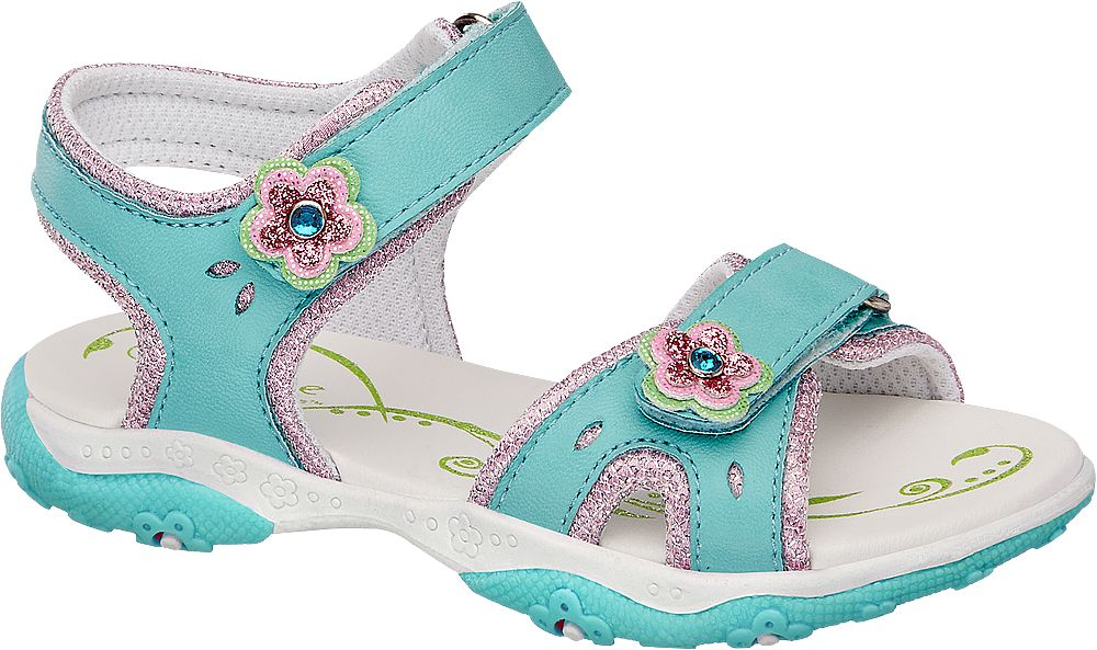 klapki i sandały, klapki i sandały sandały dziecięce cupcake couture niebieskie - cupcake couture