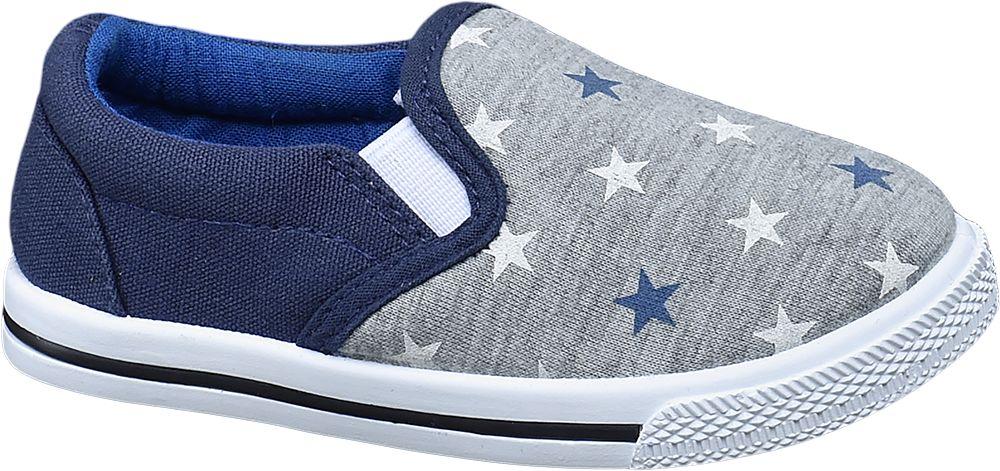 Kapcie dziecięce Bobbi-Shoes niebieskie