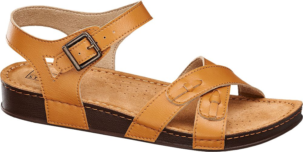 Sandały damskie  Easy Street jasnobrązowe