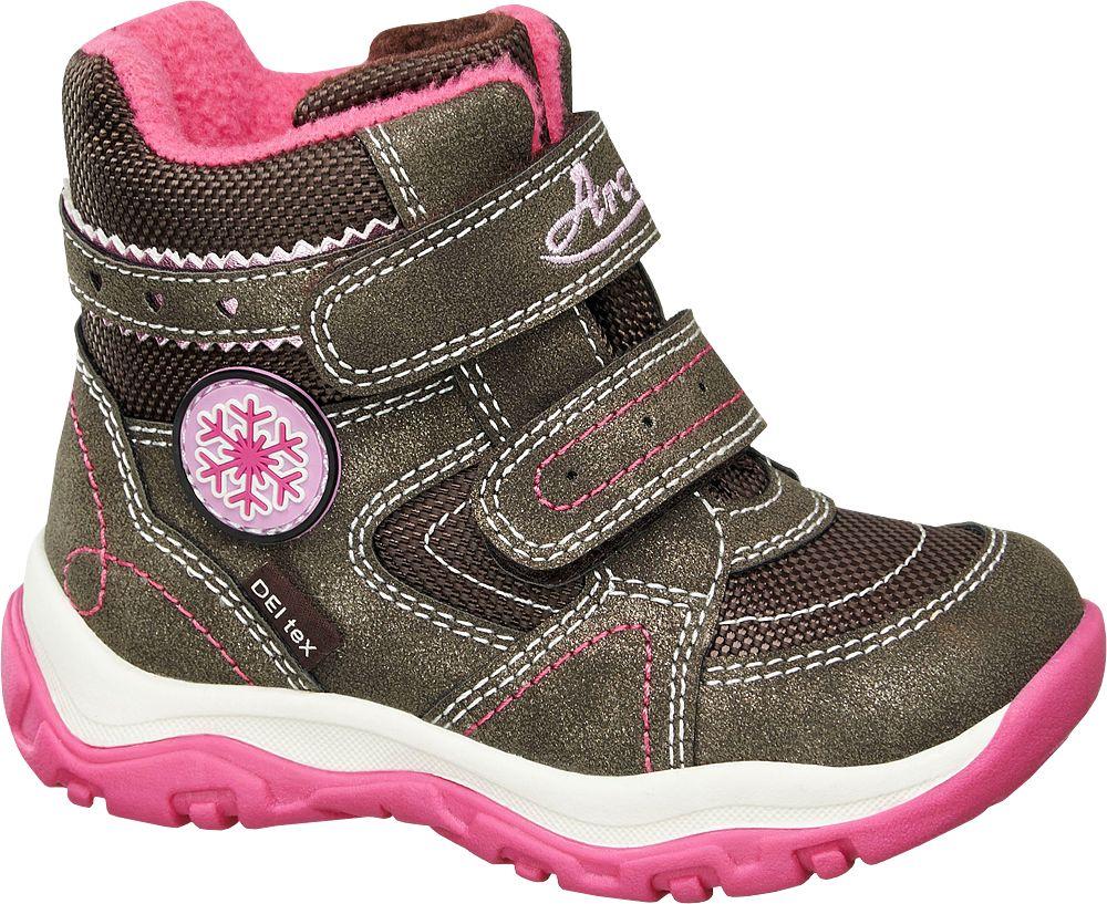 Deichmann - Cortina Zimní obuv na suchý zip 23 hnědá
