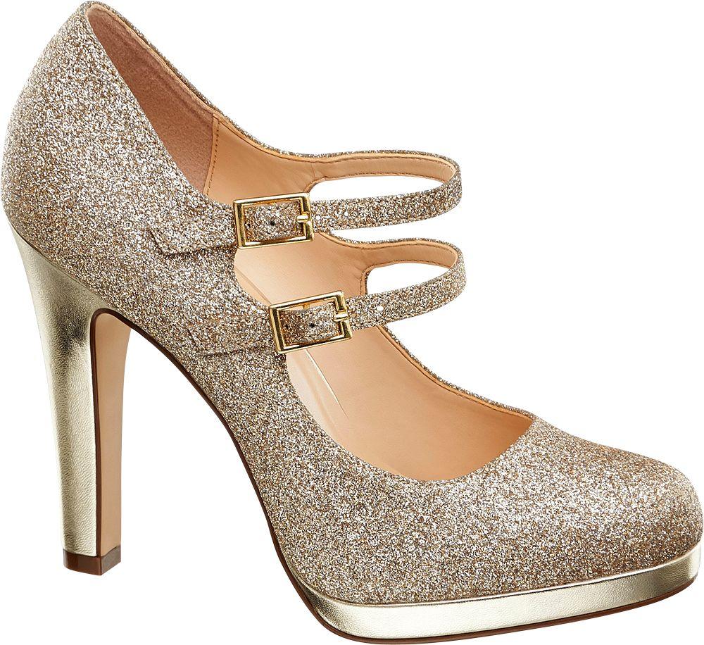 Szpilki damskie Graceland złote