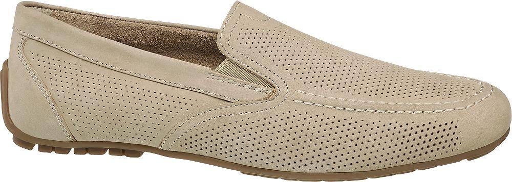 beżowe mokasyny męskie AM Shoe
