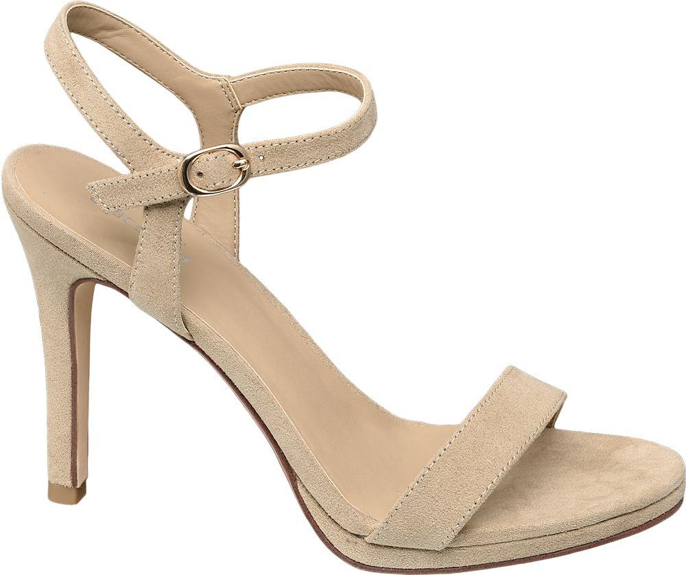 beżowe sandałki damskie Graceland na obcasie