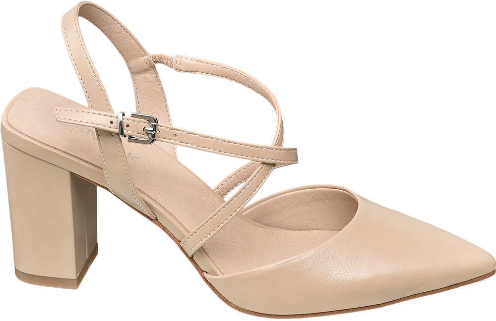 beżowe sandały damskie Catwalk na obcasie