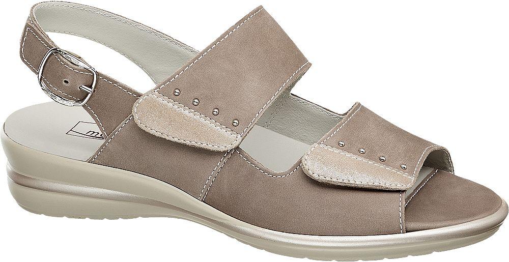 beżowe skórzane sandały damskie Medicus, tęgość G