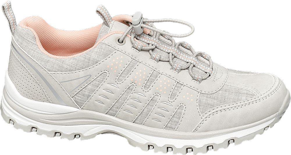 beżowo-różowe sneakersy damskie Graceland z elastycznymi sznurówkami
