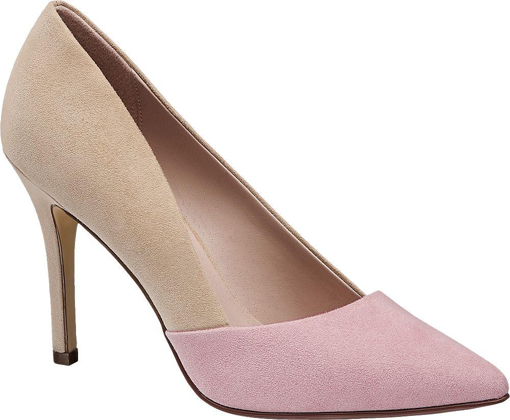 beżowo-różowe szpilki damskie Graceland