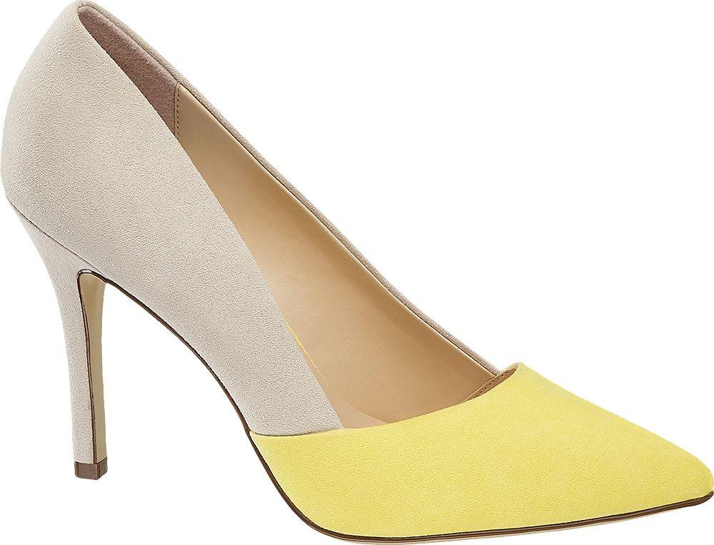 beżowo-żółte szpilki damskie Graceland