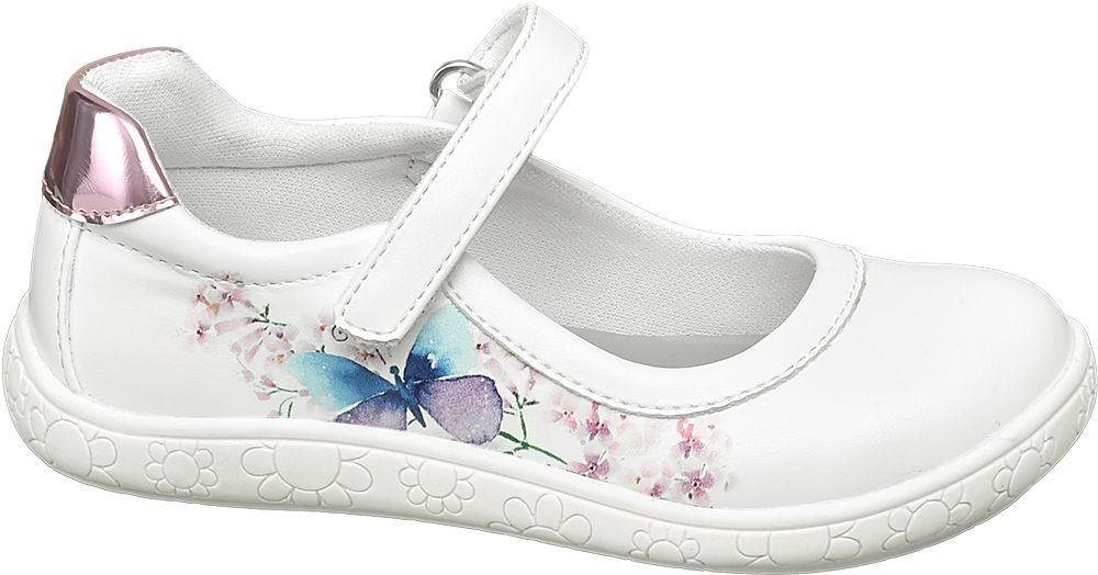 białe buciki dziewczęce Cupcake Couture z paseczkiem na rzep