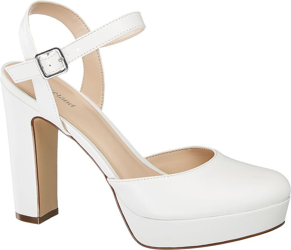 białe czółenka damskie Graceland na wysokim obcasie