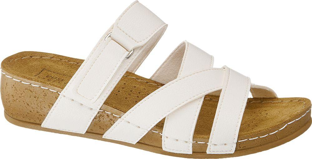 białe klapki damskie Easy Street na wygodnej podeszwie