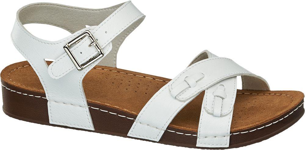 białe komfortowe sandały damskie Easy Street
