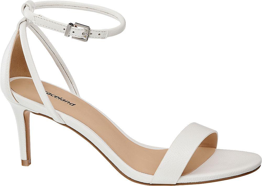 białe sandałki Graceland na szpilce
