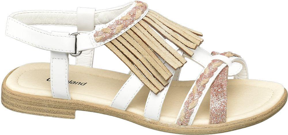 białe sandałki dziewczęce Graceland z rzemykami