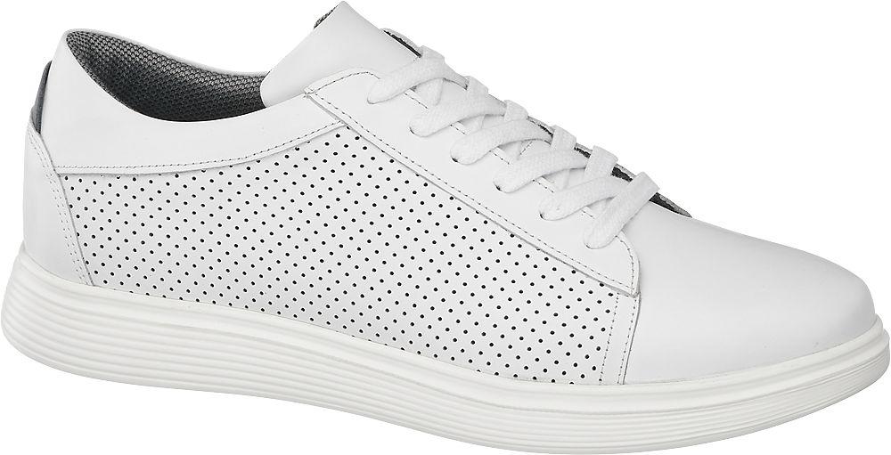 białe skórzane sneakersy męskie AM SHOE