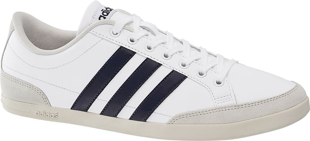 białe skórzane sneakersy męskie addias Calfaire