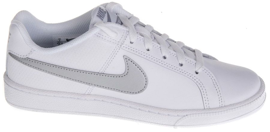 białe sneakersy damskie Court Royale ze srebrnym logo