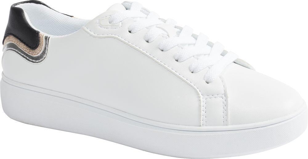 białe sneakersy damskie Graceland z czarną wstawką