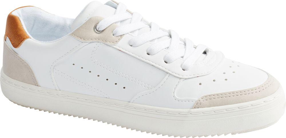 białe sneakersy damskie Graceland z popielatymi wstawkami