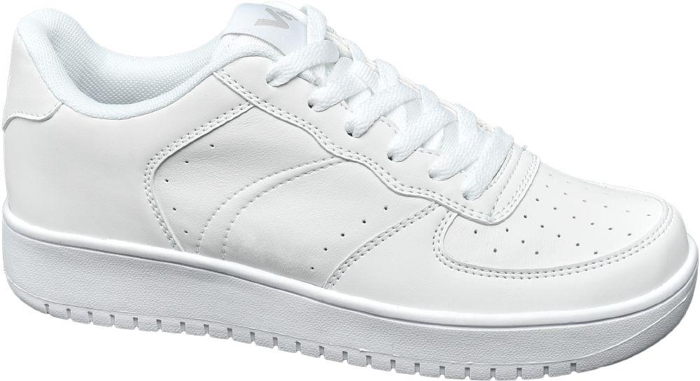 białe sneakersy damskie Vty na grubszej podeszwie