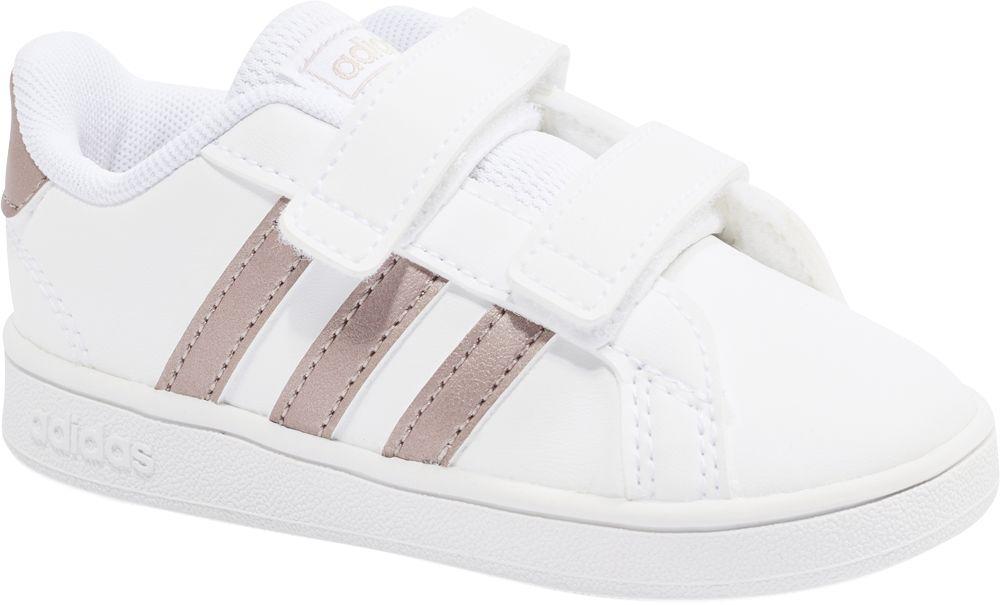 białe sneakersy dziecięce adidas Grand Court