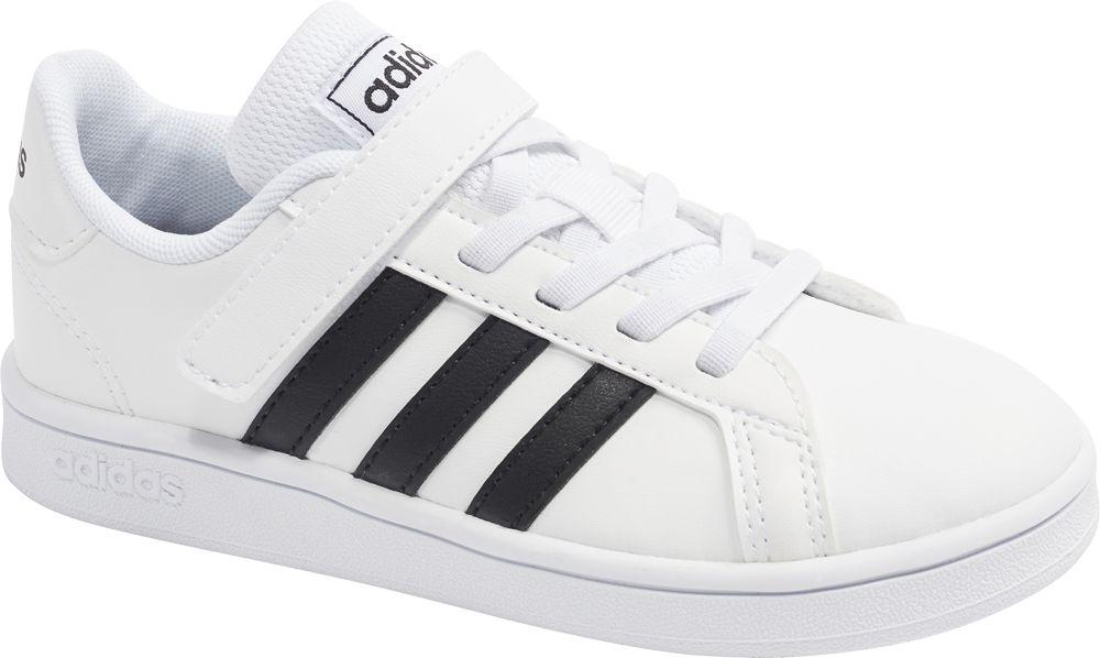 białe sneakersy dziecięce adidas Grand Court Base
