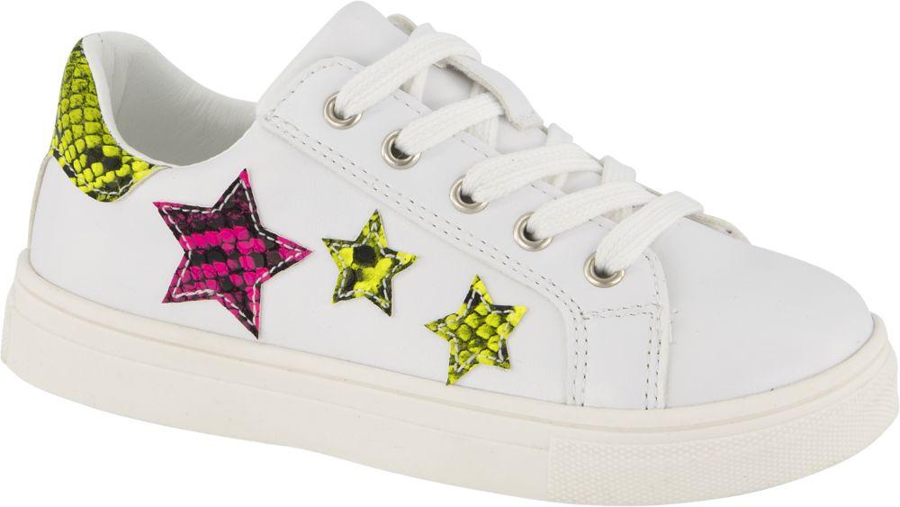 białe sneakersy dziewczęce Graceland ozdobione gwiazdkami