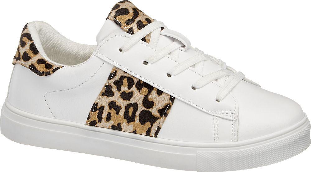 białe sneakersy dziewczęce Graceland z motywem zwierzęcym