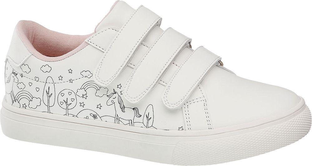 białe sneakersy dziewczęce Venice zapinane na rzepy