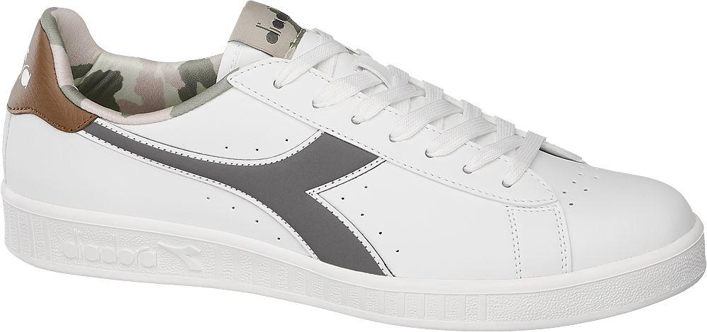 białe sneakersy męskie Diadora Game z szarym logo