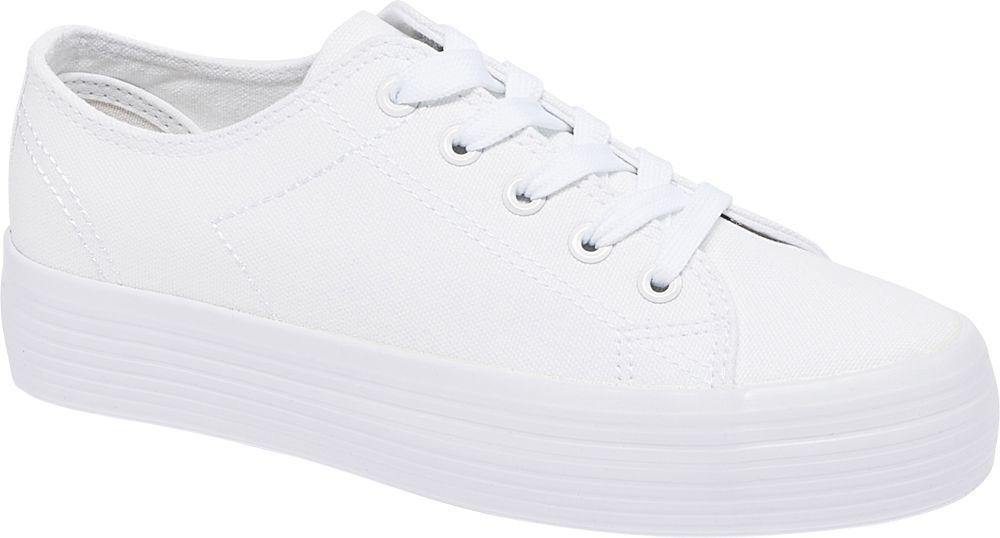 białe tenisówki damskie Vty na grubej podeszwie