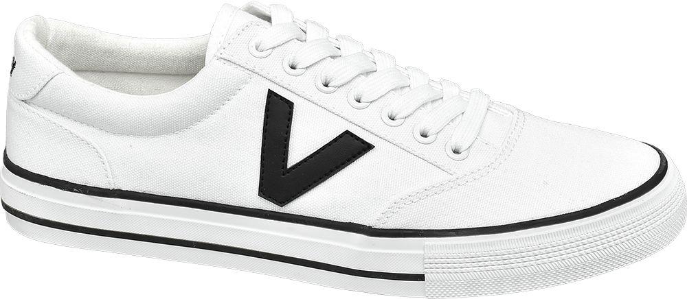 białe tenisówki męskie Vty z czarnym logo