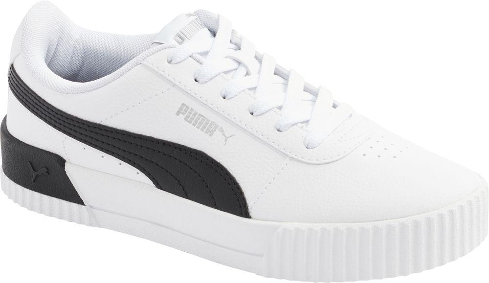 biało-czarne sneakersy damskie Puma Carina