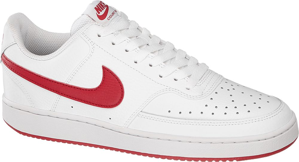 biało-czerwone sneakersy męskie Nike COURT VISION LOW