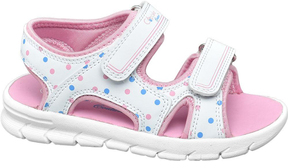 biało-różowe sandałki dziewczęce Cupcake Couture