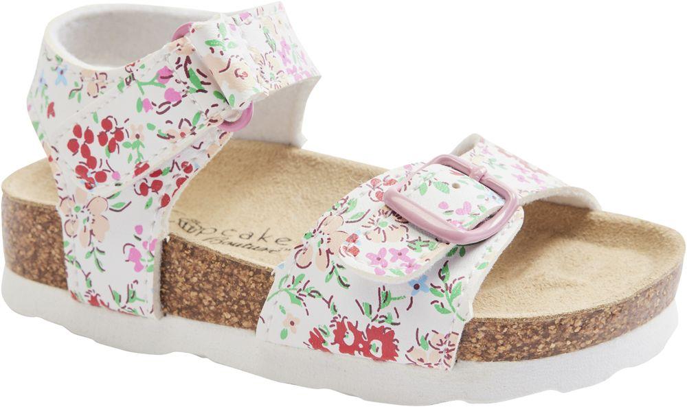 biało-różowe sandały dziewczęce Cupcake Couture na wygodnej podeszwie