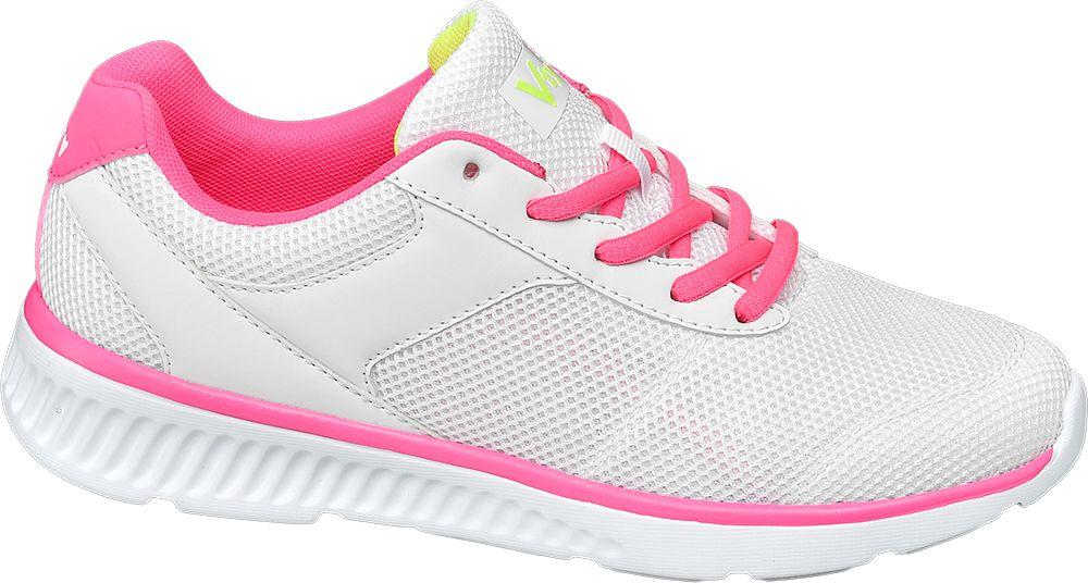 biało-różowe sneakersy damskie Vty na lekkiej podeszwie