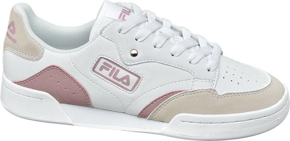 biało-różowo-beżowe sneakersy damskie Fila