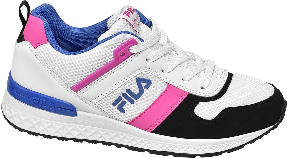 biało-różowo-niebieskie sneakersy damskie Fila