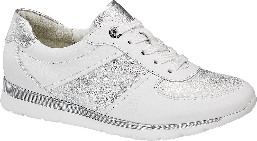 biało-srebrne sneakersy damskie Medicus, tęgość G