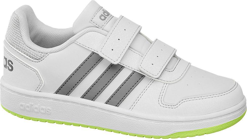 biało-szare sneakersy dziecięce adidas Hoops 2.0