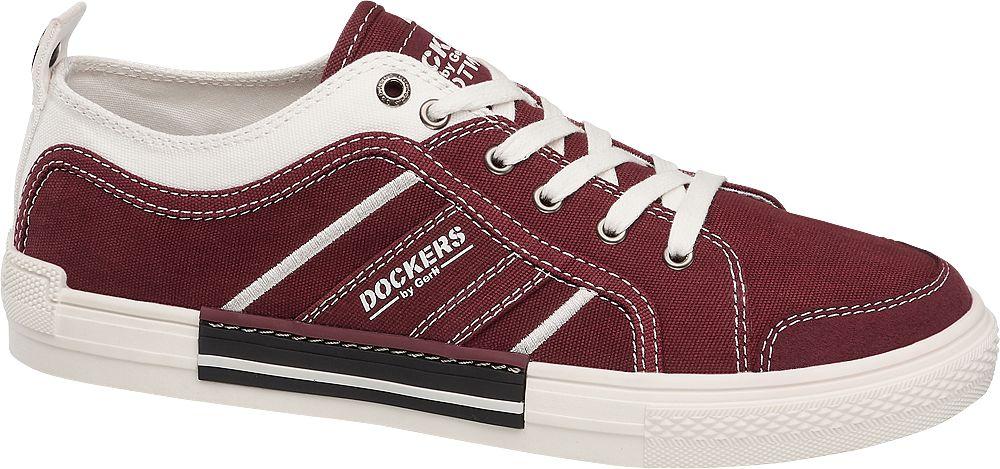 bordowo-białe sneakersy męskie Dockers