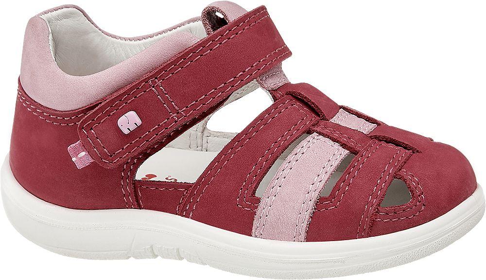 bordowo-różowe sandałki dziewczęce Elefanten, tęgość M