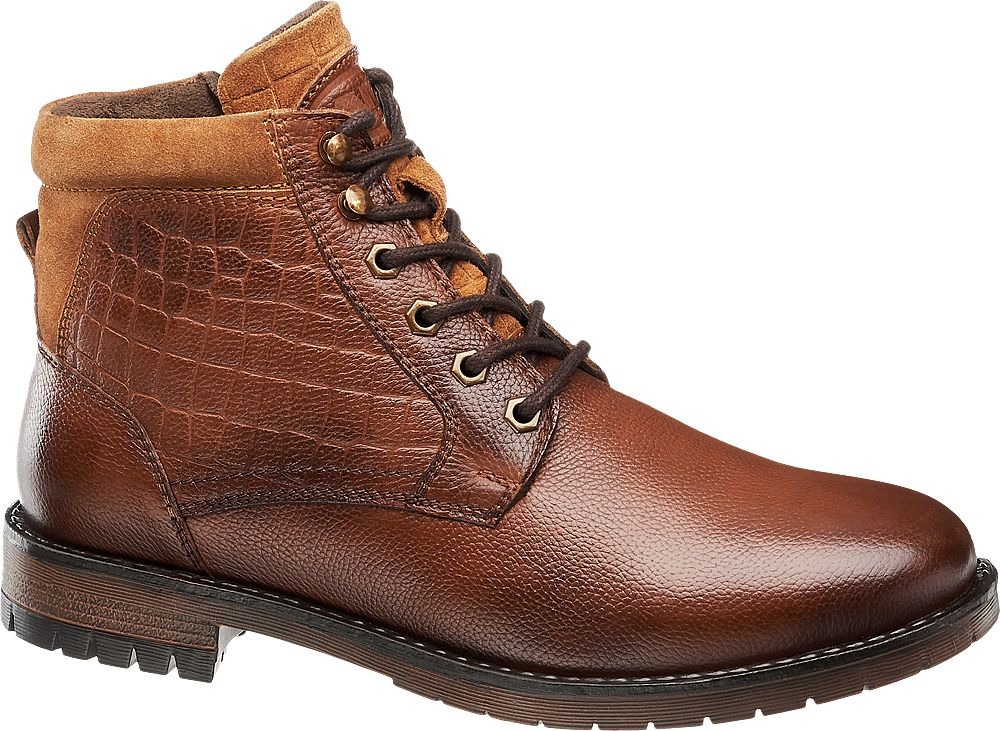 brązowe buty męskie ze skóry marki Am Shoe